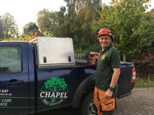 Matt by the Chapel Tree Services vehicle