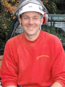Man in a hard hat and red jumper
