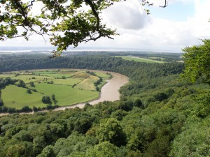 Wye valley view of fields and trees 1